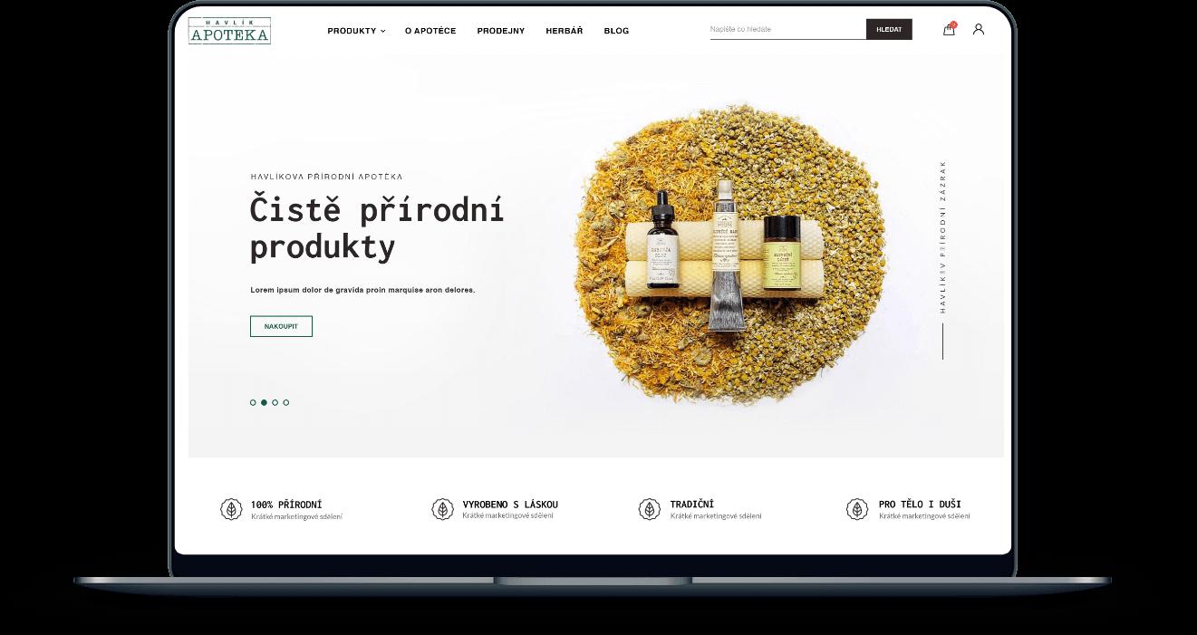 Prémiová webová a mobilní aplikace pro e-shop Havlíkova Apotéka