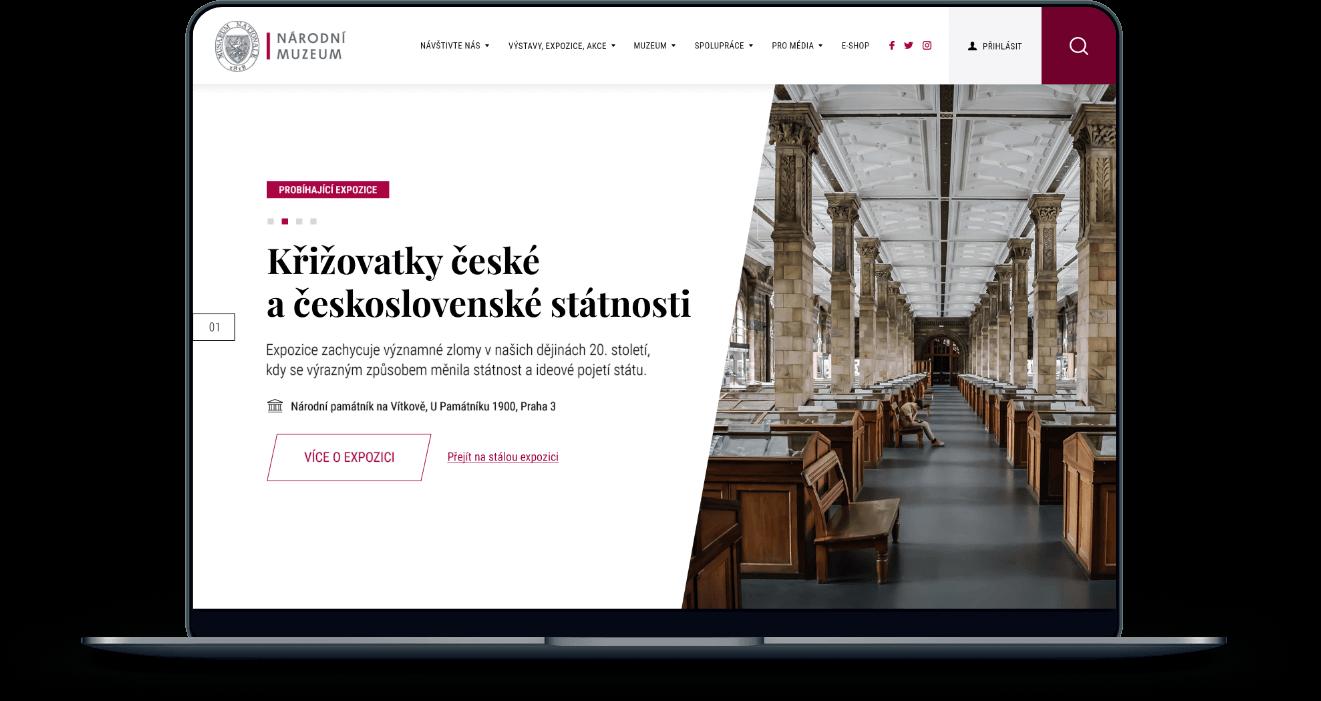 Tvorba webových stránek a web designu pro Národní muzeum